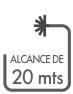 ALCANCE DE 20 MTS ICONO PT