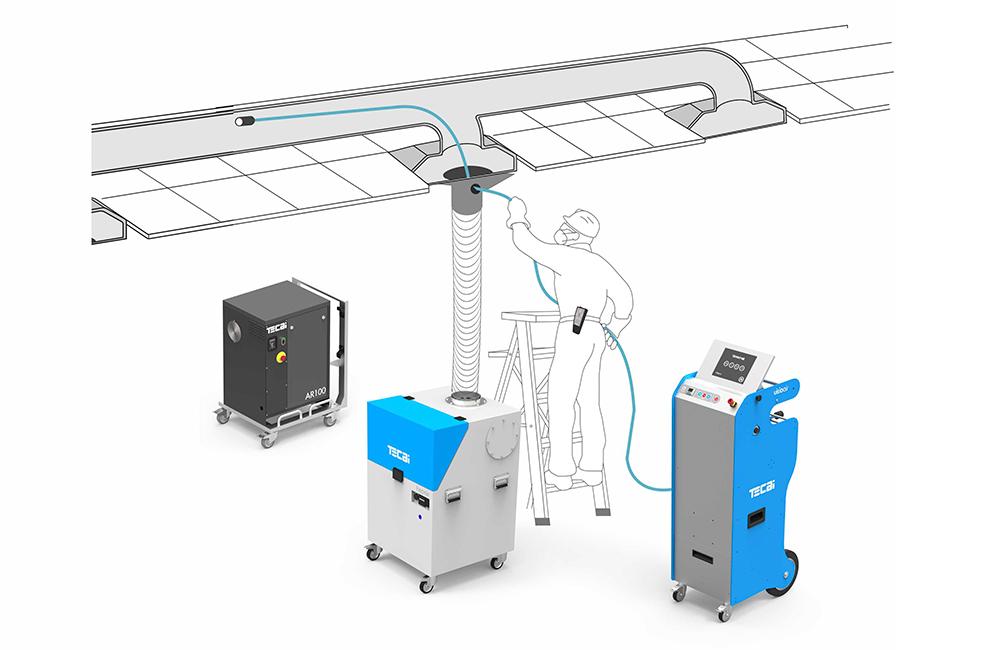 sistema de limpieza de conductos de aire tecai