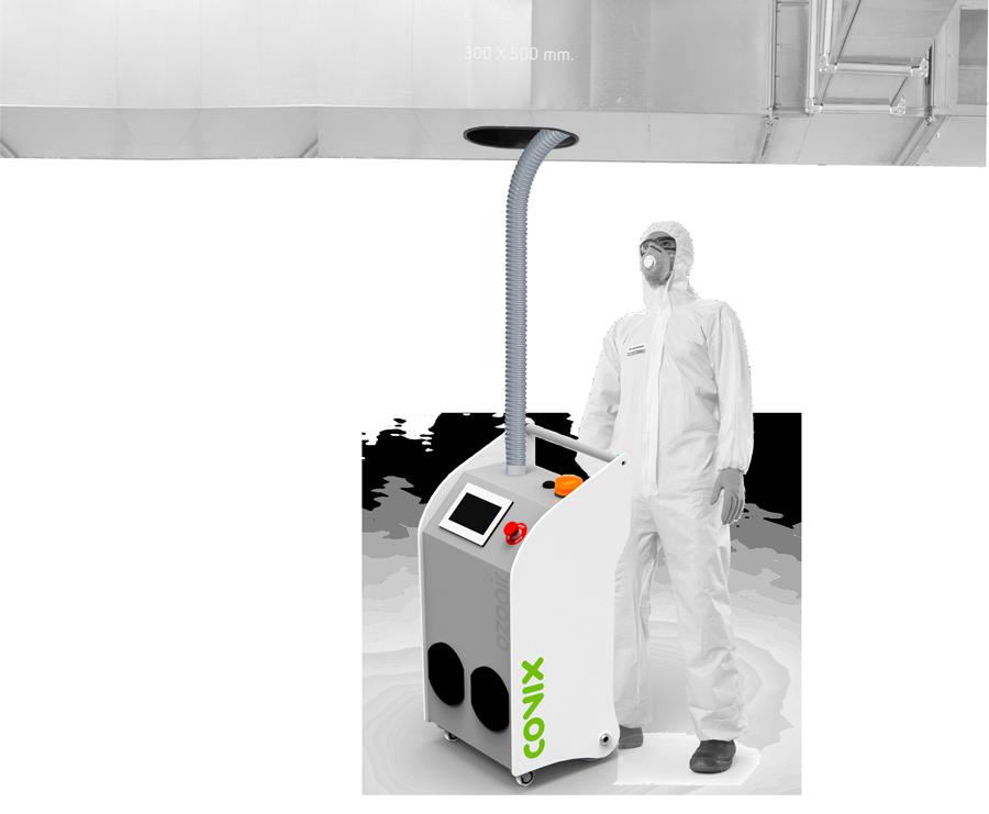 Generador de ozono inteligente para desinfección ambiental