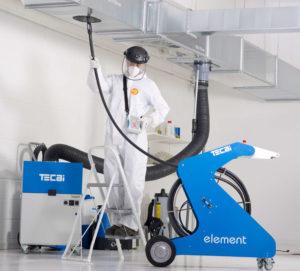 Sistema de limpieza de conductos mediante cepillado neumático