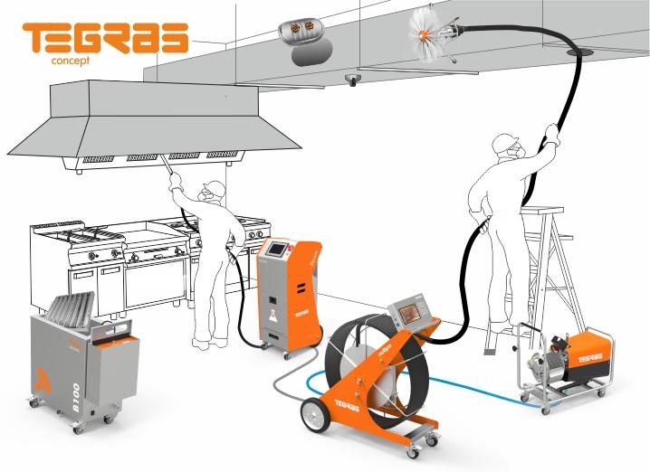 sistema equipos limipeza conductos y sistemas de extracción