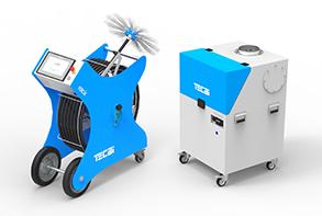 equipo limpieza sistema climatiización