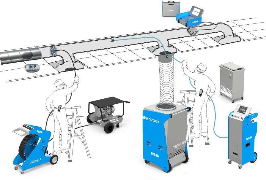 Generador de aire comprimido para robots de cepillado sistemas de climatización